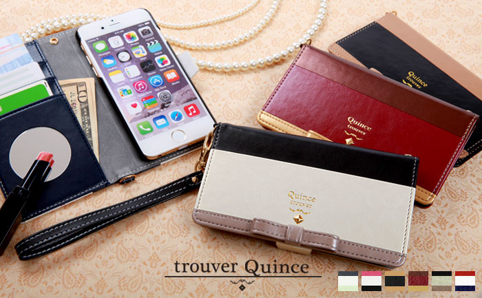 iPhone7 trouver Quince 手帳型ケース