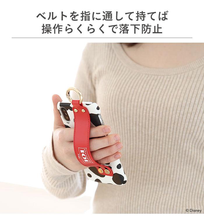 ベルトに手を通して落下防止。