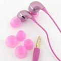 dropインナーフォン♪カラフルでドロップのようなイヤホン(ピンク)