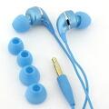 dropインナーフォン♪カラフルでドロップのようなイヤホン(ブルー)
