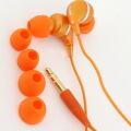 dropインナーフォン♪カラフルでドロップのようなイヤホン(オレンジ)