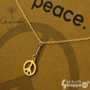 Peace Y Necklace 20in fine Chain Gold Dipped