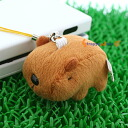 Tiny little independent even! Fellow 'ムニュマム' land mobile strap ( capybara ) 5447 B fs3gm