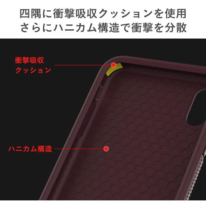 4隅に衝撃吸収素材Poron XRD使用。