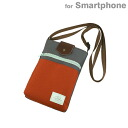 Smartphone pochette porch (gray X orange) of a good ICONIC DESIGN smart side bag size