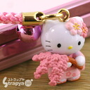 Hello kitty ◆ さくらきてぃの sum feeling ◆ weeping cherry tree having roots strap (correspondence) fs3gm