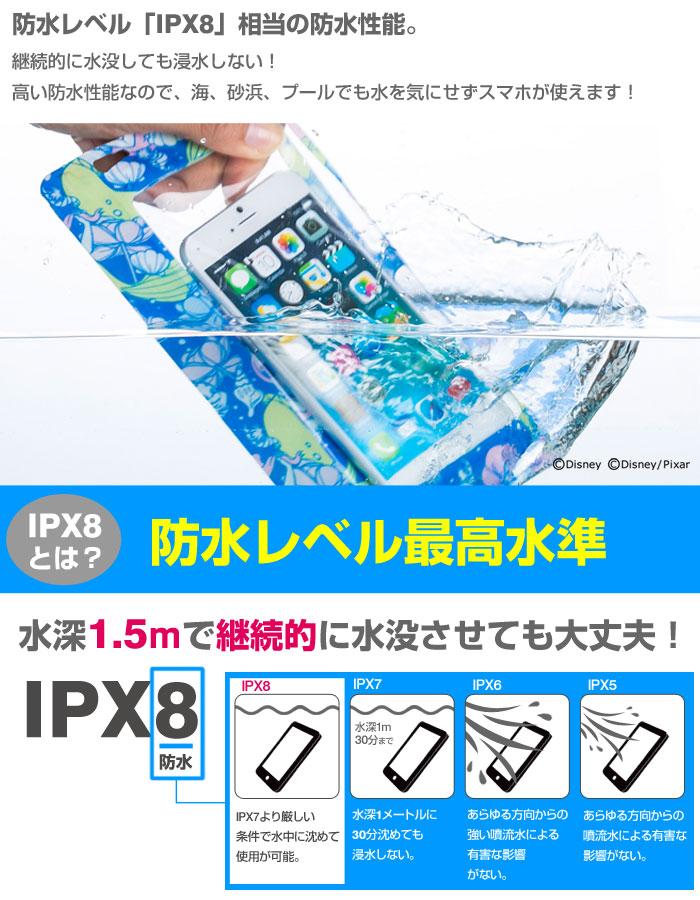 防水レベルIPX8相当の防水性能。