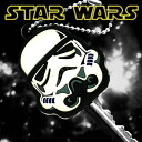 [STARWARS ☆ Star Wars] key cover ball chain (soft-headed STORMTROOPER= storm true) SWKEY-08