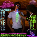 "My canvas of the night out! United States monopoly import Glow Threads shirt ""gleaming body painting T shirt'"