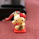 Kitty mystery, peas and netsuke (CAT / red)