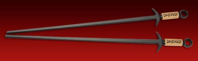 Amazon.com | Hog Wild Ninja Chopsticks, Black: Ninja Fighting ...