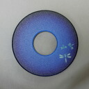 Kendo shinai for-鍔(tsuba)-pattern collar and one-point glass (blue)