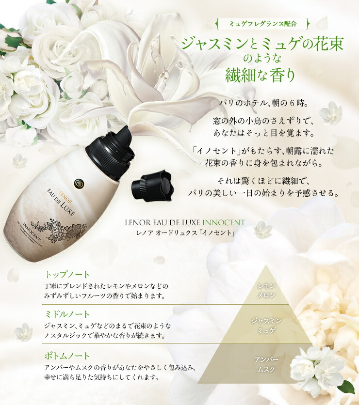 ジャスミンとミュゲの花束のような繊細な香り レノアオードリュクス イノセント