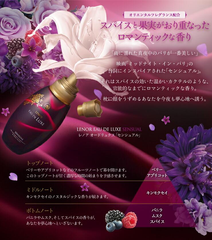スパイスと果実がおり重なったロマンティックな香り レノアオードリュクス センシュアル