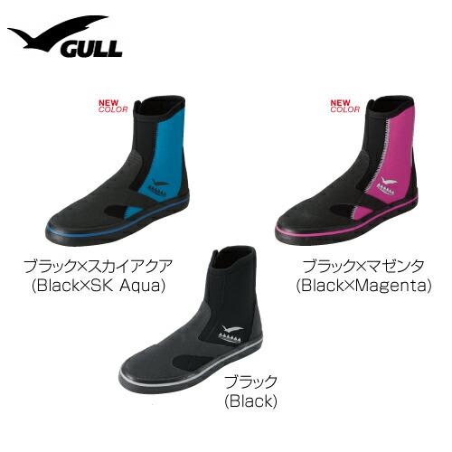 【送料無料!】2015年NEWデザインGULL(ガル)GSブーツIIIウィメンズ3mmダイビングブーツ[GA-5628]