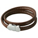 ERG double genuine leather bracelet leather erg bracelet doubleleather brown B10408 upup7