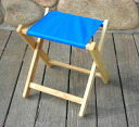 Blue Ridge Chair Works (blue ridgeceaworks) folding stool Atlantic blue [FSCH04WA] ( chair / chair / chair / sutu
