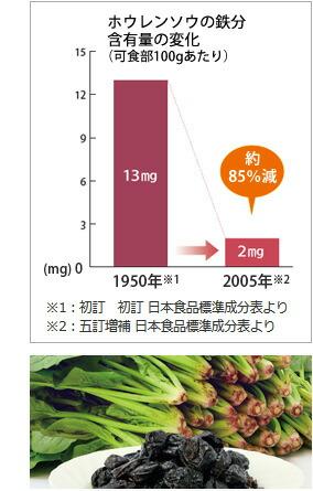 鉄分含有量の変化