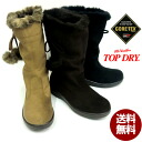 Top dry TDY3914 fully waterproof boots TOPDRY TDY3914, GORE-TEX-B, 22.0cm-26.0cm-3E-ladies half length, Gore-Tex, rain and snow, with a fur