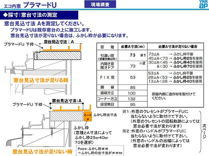 採寸:窓台寸法の測定