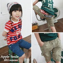 APPLE SMILE paint dirt patch half-cotton pants 6300 yen (tax incl.) or more purchased at? s stylish children's clothing Korea キッズミオ-kidsmio? t 110 cm