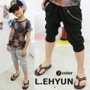 L.EHYUN Pocket Center zipper half-cotton pants 6300 yen (tax incl.) or more purchase at? s stylish children's clothing Korea キッズミオ? t 100 cm 110 cm 120 cm 130 cm 140 cm 150 cm 160 cm-170 cm
