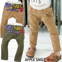 Korea kids clothes APPLE SMILE マルチロゴ patch cotton pants 4200 yen (tax incl.) or more with your purchase (cash out) s fashionable キッズミオ? t 100 cm 110 cm 120 cm 130 cm-140 cm 150 cm-160 cm