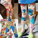 "Korea kids clothing retro big floral print leggings 6300 yen (tax incl.) or more purchased ""fashionable キッズミオ? t 90 cm 100 cm 110 cm 120 cm 130 cm at"
