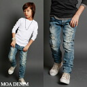 Fall bargain goods MOADENIM Front crash slim denim pants over 6300 yen purchased in? s stylish children's clothing Korea キッズミオ-kidsmio? t 100 cm 110 cm 120 cm 130 cm-140 cm 150 cm-160 cm-170 cm