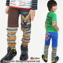 "Autumn disposal SALE Korea Kids Clothing Shorts & native pattern leggings layered set 6300 yen (tax included) more than ""fashionable キッズミオ? t 100 cm 110 cm 120 cm 130 cm in the purchase 140 cm."