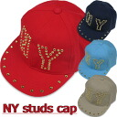 "Korea kids clothing bargain products NEW YORK antiqued studs Cap 6300 yen (tax incl.) or more purchased at ""fashionable キッズミオ."""