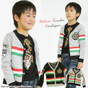 "Korea kids clothing bargain products LOVE ANGEL Italian tricolours Cardigan 6300 yen (tax incl.) or more ""fashionable キッズミオ? t 100 cm 110 cm 120 cm in the purchase 130 cm-140 cm 150 cm-160 cm"