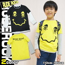 Korea kids clothes RUDE ROCK smiley skull layered style T shirt 9 / 3 13:59 up to 4320 yen (tax included) more than 150 cm-160 cm (cash out) s fashionable キッズミオ? t 110 cm 120 cm 130 cm-140 cm in the purchase