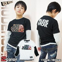 10 / 15 13:59 from the shipping half and Korea kids clothes ROCK RUDE BOY RUDE ROCK t-shirt 6480 Yen more than 150 cm-160 cm? s stylish kids Mio] 110 cm 120 cm 130 cm-140 cm in the purchase