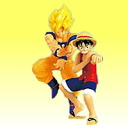Dragon Ball Z × one piece (bottom) [1] Goku x Luffy