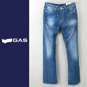 ■GAS men ■ ユーズド processing straight jeans denim underwear gas-m-p-38-609