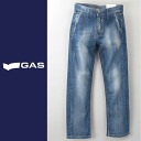 ■GAS men ■ damage processing straight jeans denim underwear gas-m-p-38-618
