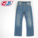 ■55DSL diesel men ■ ユーズドダメージペイント processing back print reshuffling straight jeans denim underwear 55d-m-p-44-604