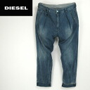 ■DIESEL diesel men ■ ユーズド processing one tuck roll-up tapered jeans denim underwear die-m-p-44-224