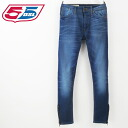 ■ 55 DSL fifty five diesel diesel mens ■ hem zip washed cutting tapered jeans denim pants 55d-m-p-54-641