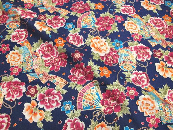 深的像和睦柄布料日式花纹和服和睦花纹