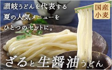 【送料無料】【ネット限定】ざるうどんと生醤油うどんセット