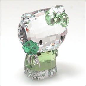スワロフスキー Hello Kitty Lucky Charm ハローキティ 「ラッキー・クローバー」  クリスタルフィギュア ペリドット 5004741