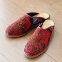 Kilim and leather slipper 37 (24.0 cm) fs3gm