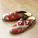オールドキリム and slippers Lady's 38 (24cm) of the leather (leather)