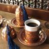 銅製カフェカップブロンズ2客セット