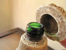ワイン瓶側面