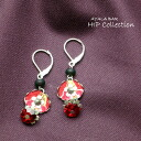 Ayala bar Hip Collection pierced earrings vermillion Vermilion product