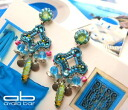 Ayala bar Classic Collection pierced earrings mediterranean blue メディタレニアンブルー