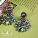 Pierced earrings / Ayala bar Classic CollectionRuby in Zoisite ruby in zoisite